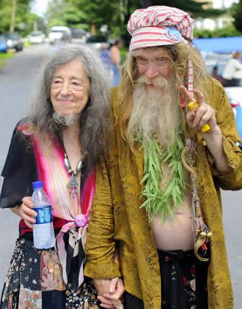 Hairy hippie girls